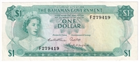 East Caribbean Note 1965 1 Dollar, Signature 1, VF