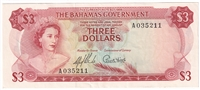 East Caribbean Note 1965 5 Dollars, Signature 9, VF