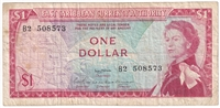 East Caribbean States Note Pick #13a 1965 1 Dollar, Signature 2, Fine
