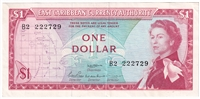 East Caribbean States Note Pick #13a 1965 1 Dollar, Signature 2, Extra Fine