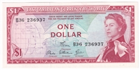 East Caribbean States Note Pick #13d 1965 1 Dollar, Signature 6, Uncirculated