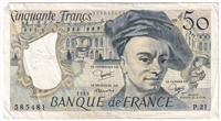 France Note 1980 50 Francs, VF (damaged)