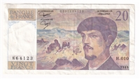 France Note 1983 20 Francs, VF (holes or writing)