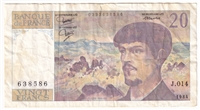 France Note 1984 20 Francs, VF (damaged)