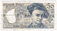 France Note 1987 50 Francs, VF (holes)
