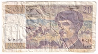 France Note 1989 20 Francs, VF