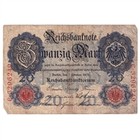 Germany Note 1908 20 Mark, F