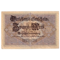 Germany Note 1914 20 Mark, VF