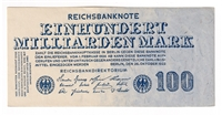 Germany Note 1923 100 Milliarden Mark, AU