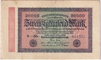 Germany Note 1923 20000 Mark, EF-AU