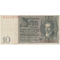Germany Note 1929 10 Reichsmark, F