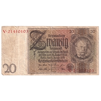 Germany Note 1929 20 Reichsmark, F