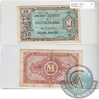 Germany Note 1944 10 Mark, without F, VF
