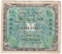 Germany Note 1944 41640 Mark, With F, VF
