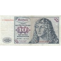 Germany Note 1970 10 Deutsche Mark, VF