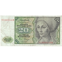 Germany Note 1980 20 Deutsche Mark, VF