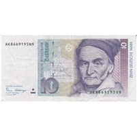 Germany Note 1989 10 Deutsche Mark, VF