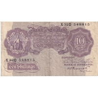 Great Britain Note 1940 10 Shillings, VF