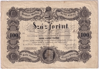 Hungary Note Pick #S118 1848 100 Forint F (L)