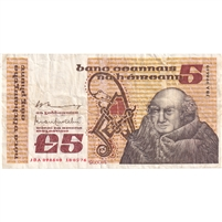 Ireland Note 1976-77 5 Pounds, VF
