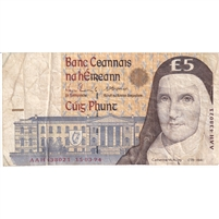Ireland Note 1994 5 Pounds, VF
