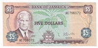 Jamaica Note 1976 5 Dollars, AU