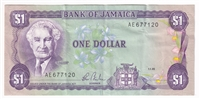 Jamaica Note 1985-90 1 Dollar, Circ