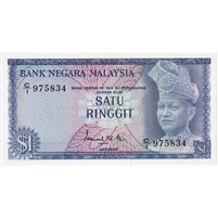 Malaysia Note 1967-72 1 Ringgit, Old Spelling, UNC