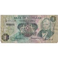Scotland Note 1972 1 Pound, F (damaged)