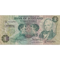 Scotland Note 1973 1 Pound, F (damaged)