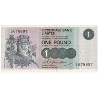 Scotland Note 1972 1 Pound, VF-EF