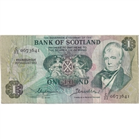 Scotland Note 1973 1 Pound, F-VF