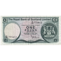 Scotland Note 1973 1 Pound, VF