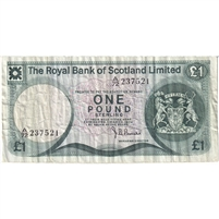 Scotland Note 1974 1 Pound, VF