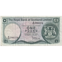 Scotland Note 1975 1 Pound, VF