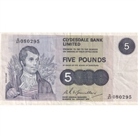 Scotland Note 1975 5 Pounds, VF