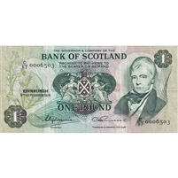 Bank of Scotland Note 1976 1 Pound, VF