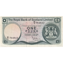Scotland Note 1976 1 Pound, EF