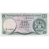 Scotland Note 1977 1 Pound, VF