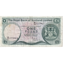 Scotland Note 1978 1 Pound, VF
