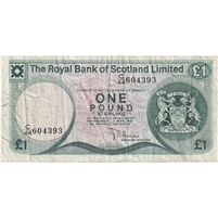 Scotland Note 1981 1 Pound, VF (tear)