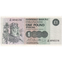 Scotland Note 1982 1 Pound, VF-EF