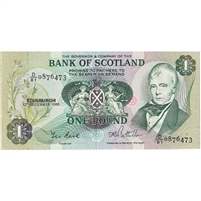 Scotland Note 1985 1 Pound, EF-AU