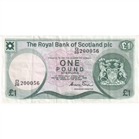 Scotland Note 1985 1 Pound, VF-EF