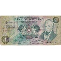 Scotland Note 1970 1 Pound, F (damage)