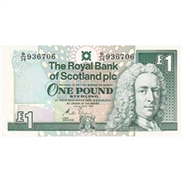 Scotland Note 1991 1 Pound, AU