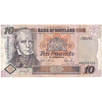 Scotland Note 1995 10 Pounds, VF (tear)