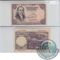 Spain Note 1946 25 Pesetas, EF