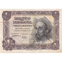 Spain Note 1951 1 Peseta, EF