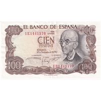 Spain Note 1970 100 Pesetas, EF